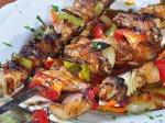 Szaszłyki mięsno warzywne z grilla